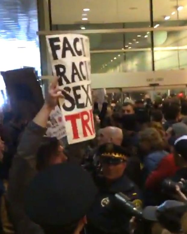 Armed Trump Supporters Threaten Protesters (Video) Promo Image