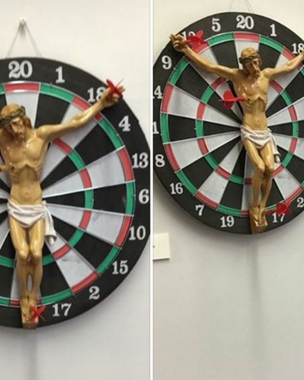 Jesus Dartboard 'Art' At Rutgers Causes Outrage Promo Image