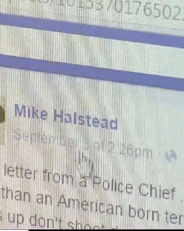 Mike Halstead's facebook post