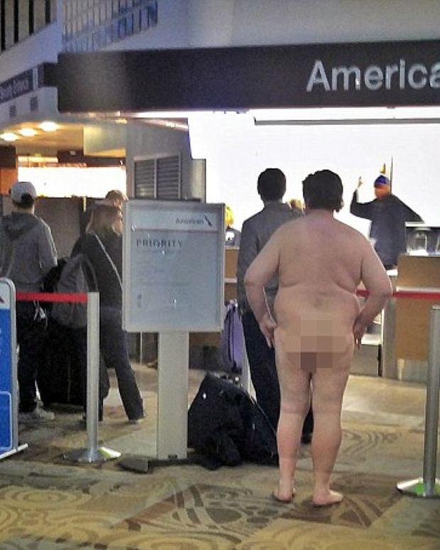 A Naked Man At Nashville International Airport