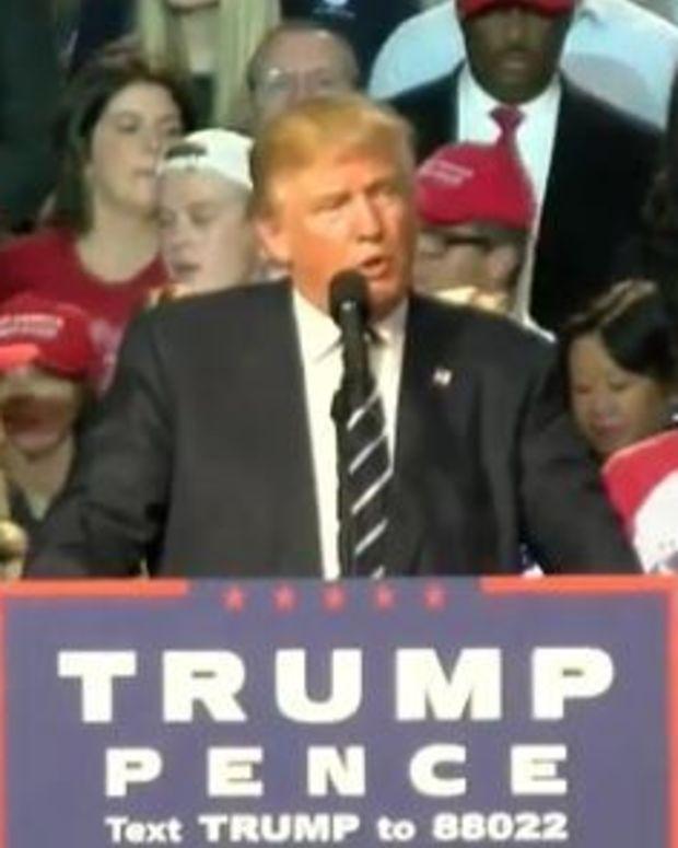 Trump Holds Midnight Rally In Michigan As Polls Tighten (Video) Promo Image