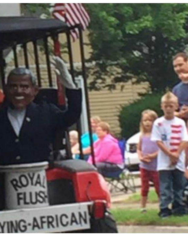 Indiana Man Calls Obama 'Lying African' On Parade Float Promo Image