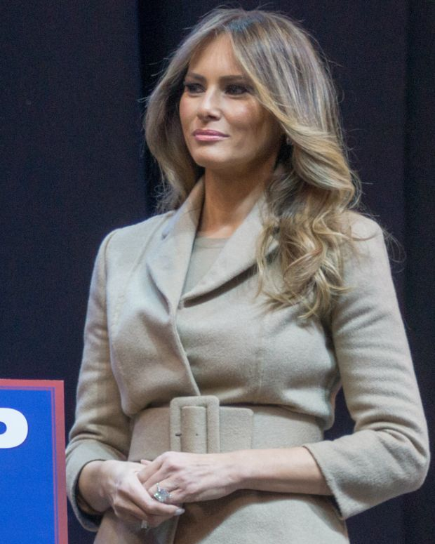 Melania Trump Flinches When President Trump Touches Her (Video) Promo Image