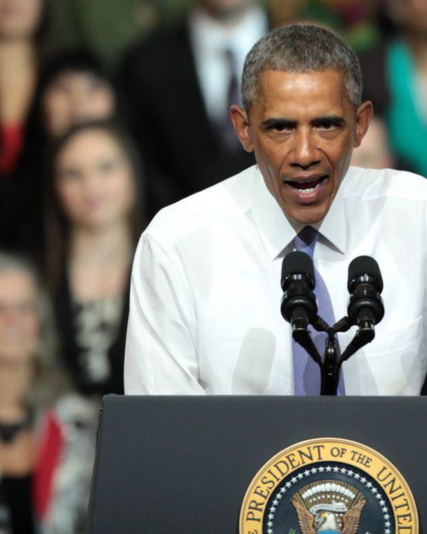 Obama Defends Obamacare During Award Acceptance Speech Promo Image