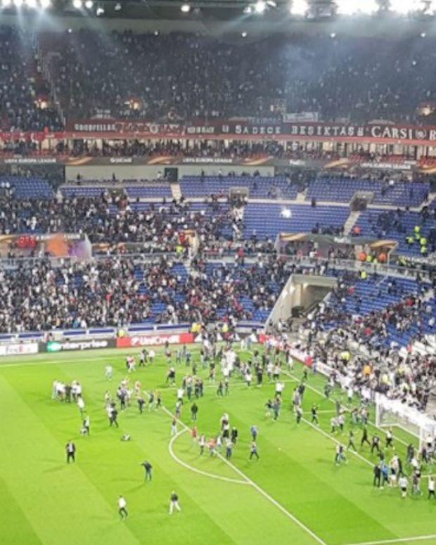Fans Violently Clash In Soccer Riot (Video) Promo Image