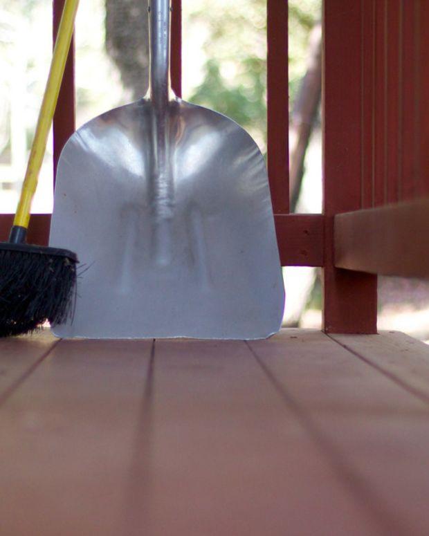 Children Help Disabled Man Shovel Snow (Photo)  Promo Image