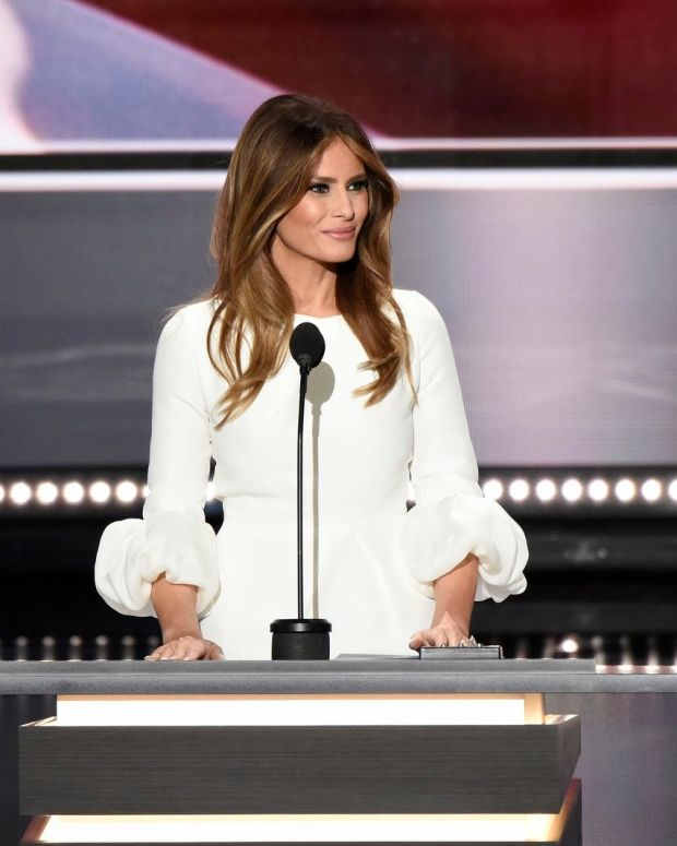 Melania Trump Takes Picture With Soldiers (Photos) Promo Image