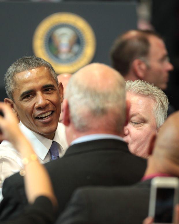 Did Obama Wince As Trump Spoke? (Photos/Video) Promo Image