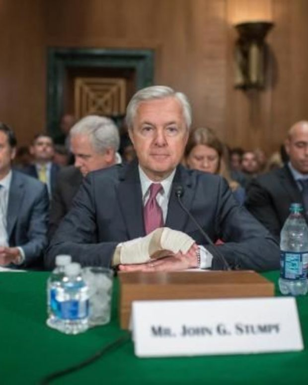 Wells Fargo CEO Made Millions Before Admitting Fraud Promo Image