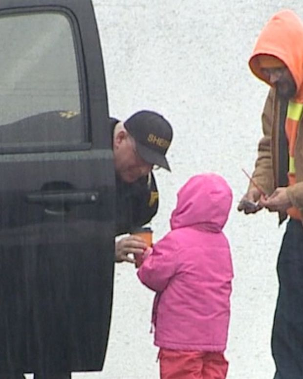 Man Buys Coffee For Officers During Funeral Procession  Promo Image