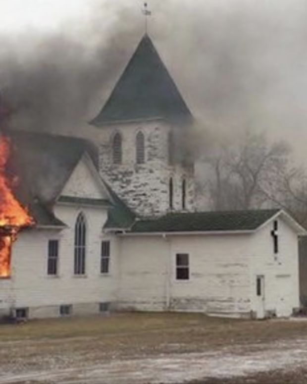 Church Owned By White Supremacist Burns Down Promo Image