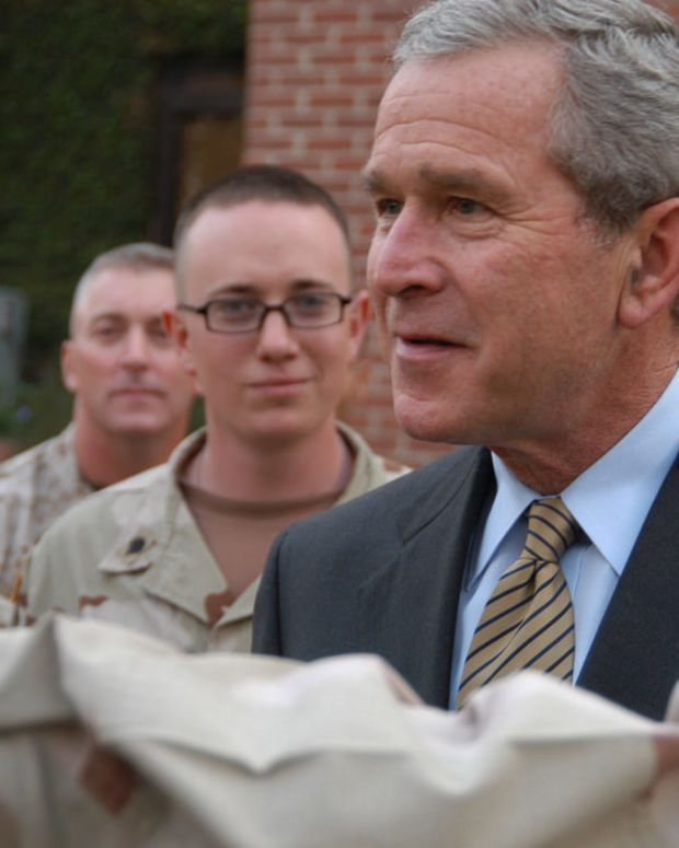 George W. Bush Says He Clicks With Michelle Obama Promo Image