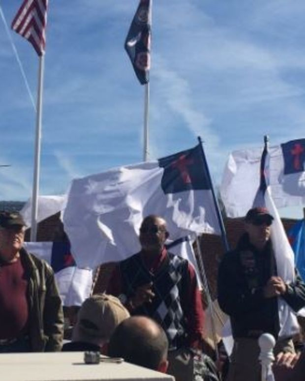 People Protest To Keep Christian Flag On Public Land Promo Image