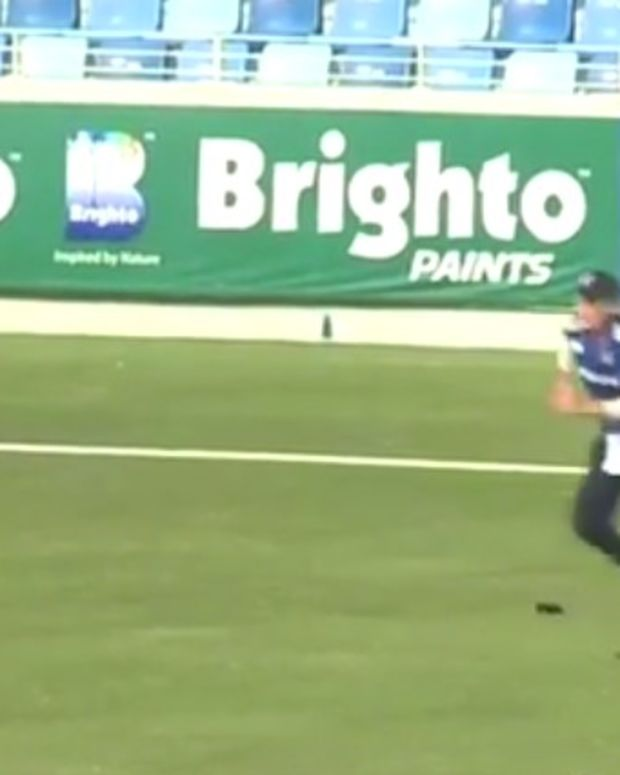 Cricket Player Loses Prosthetic Leg, Keeps Playing (Video) Promo Image