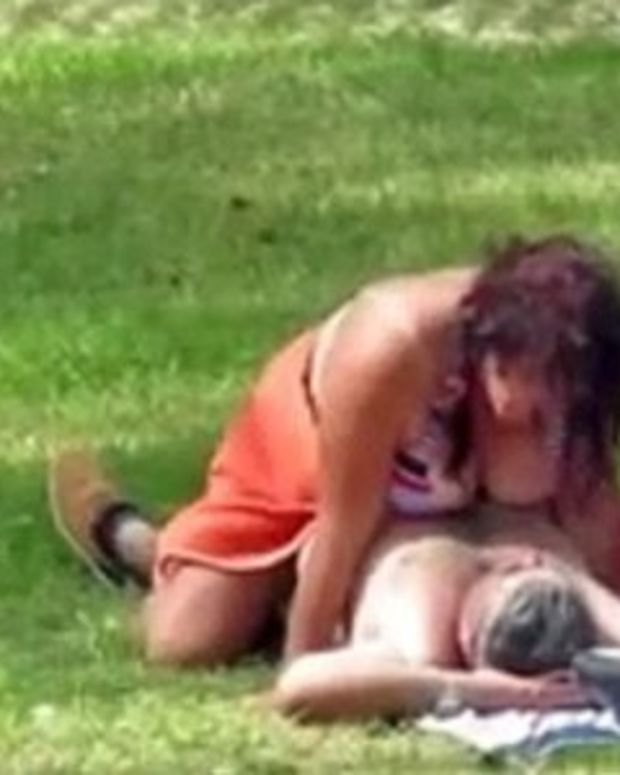 Couple Caught Having Sex Next To Girl (Video) Promo Image