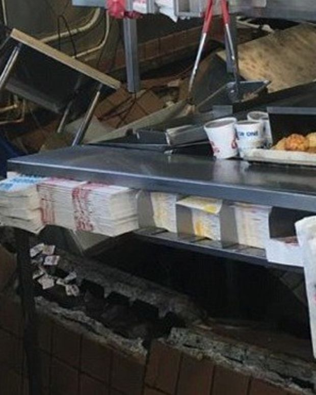 Customers Save Employees In Restaurant Floor Collapse Promo Image