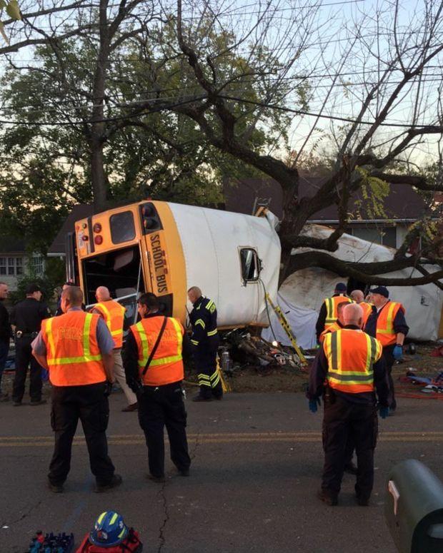 School Bus Crash Kills 5 Children, Driver Arrested Promo Image