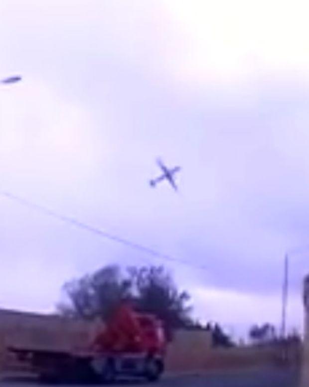 Dashcam Films Last Seconds Of Plane In Malta Crash (Video) Promo Image