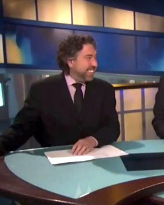 News Anchors Laugh At Man Who Lives With Goats (Video) Promo Image