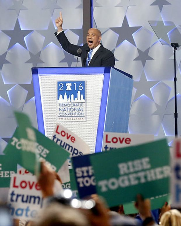 Cory Booker Responds To Trump's Tweet After DNC Speech Promo Image