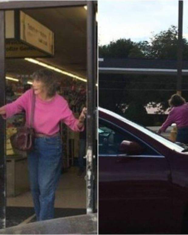 Dollar Store Shopper Notices Teen Coming Up Behind Old Woman, Can't Believe What Happens Next Promo Image