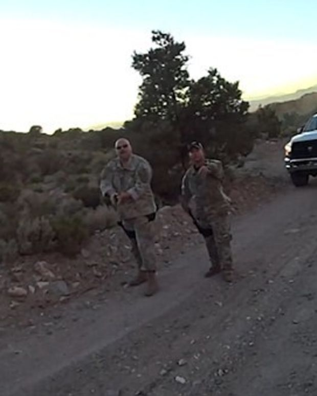 Video Shows Bikers Held At Gunpoint Near Area 51 (Video) Promo Image