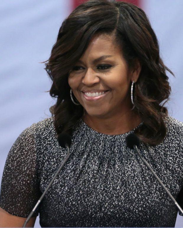 Michelle Obama's Shocking Rumored Memoir Plans Promo Image