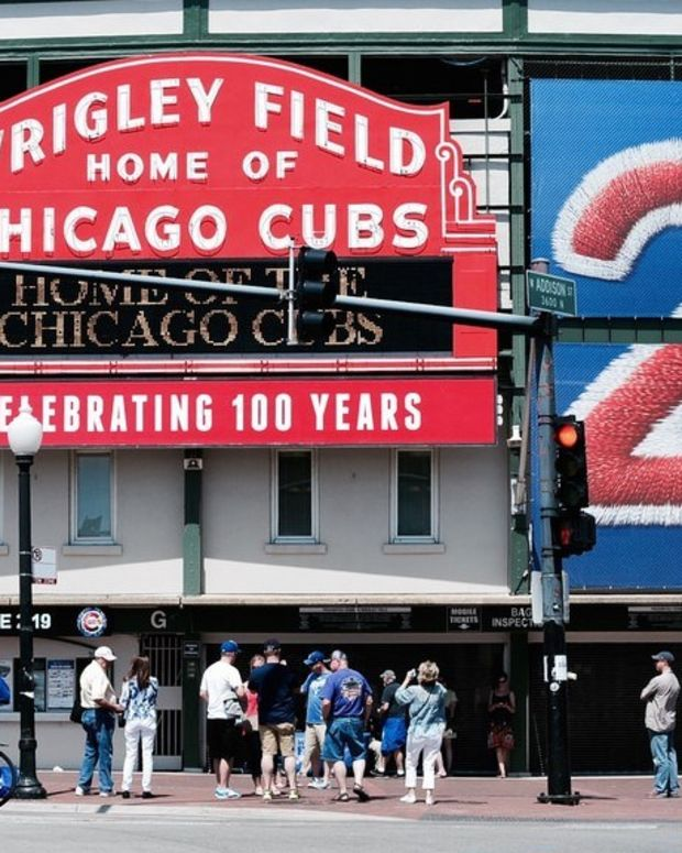 Woman's Kind Act Toward Blind Cubs Fan Goes Viral (Photos) Promo Image