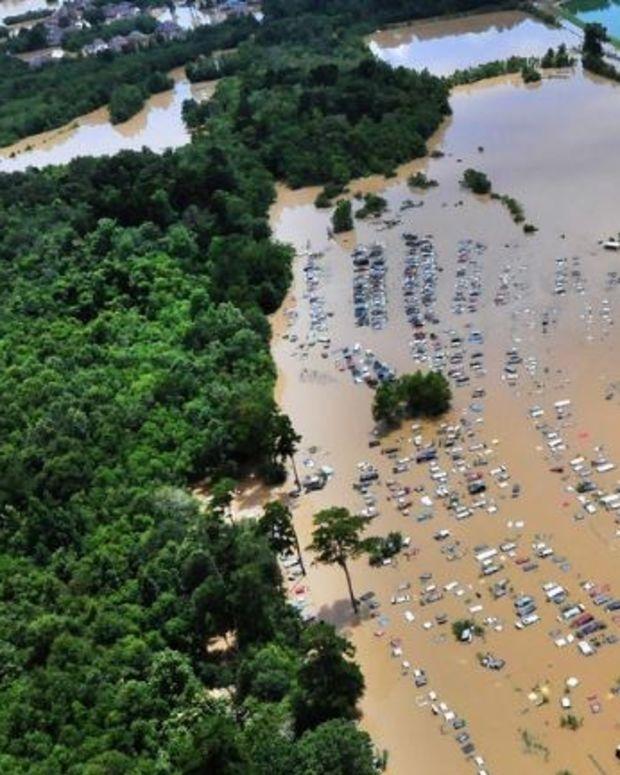 Climate Change, Flooding Cause Change To Louisiana Map Promo Image