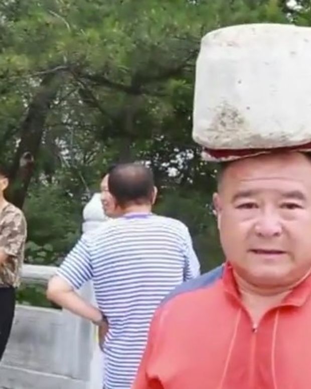 Man Loses 66 Pounds, Walks With Cement On Head (Video) Promo Image
