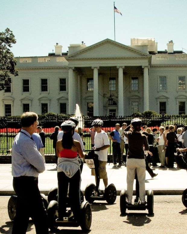 Teacher Flipping Off White House Sparks Investigation (Photo) Promo Image