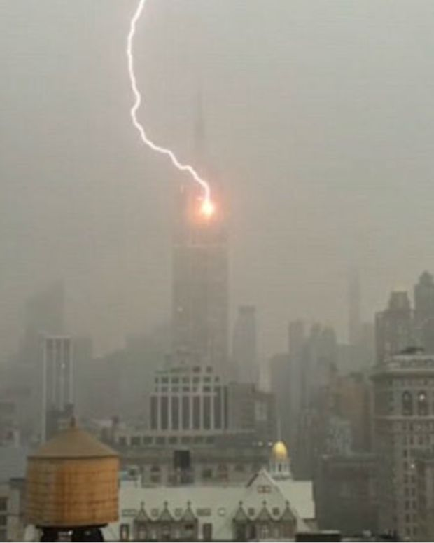 Lightning Strikes Empire State Building (Video) Promo Image