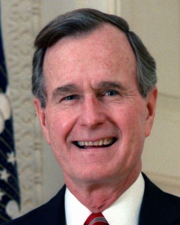 George H.W. Bush Won't Attend Trump Inauguration Promo Image