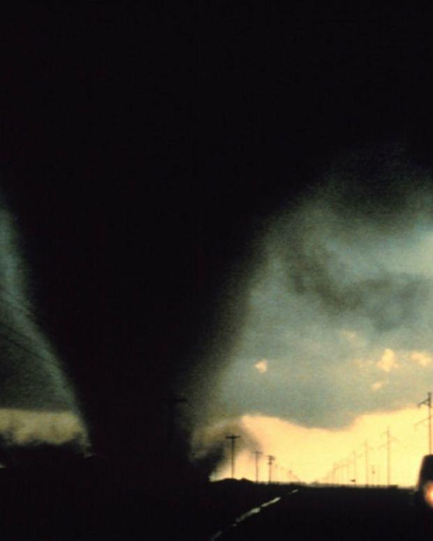 Son And Elderly Mother Fly Through Tornado In Bathtub (Photo) Promo Image