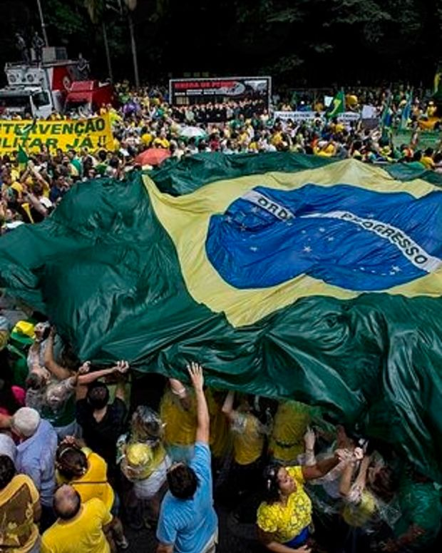 Nationwide Austerity Strikes Paralyze Brazilian Cities Promo Image