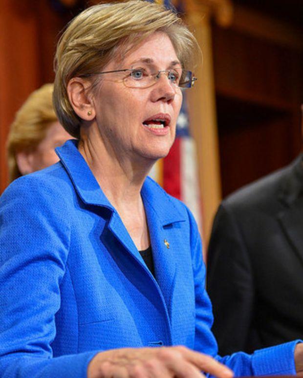 Warren Blasts Trump For Wall Street Regulation Rollback Promo Image