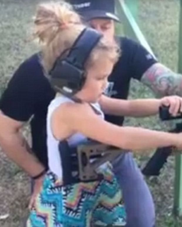 Controversial Clip Shows Dad Teaching Daughter To Shoot (Video) Promo Image