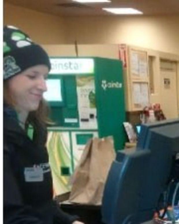 Officer Helps Elderly Veteran Buy Groceries Promo Image
