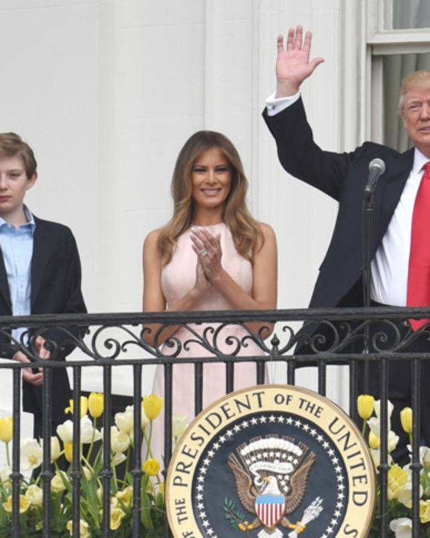 Melania And Barron Trump Move Into White House (Photos) Promo Image