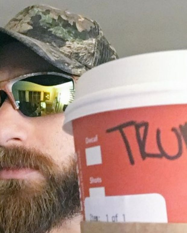 Angry Trump Fans Tell Starbucks: Write 'Trump' On Cups Promo Image