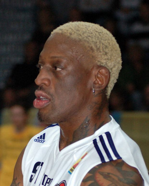Dennis Rodman Brings Trump Book, Praise To North Korea (Photo) Promo Image
