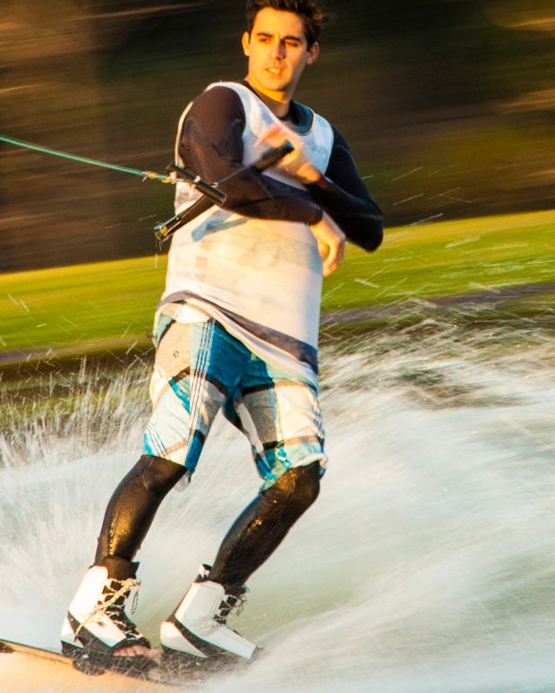 Wakeboarding Dad Saves Daughter From Falling (Video) Promo Image