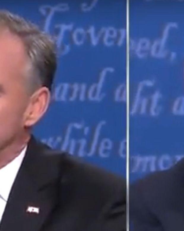 Pence Denies Real Trump Quotes During Debate (Video) Promo Image
