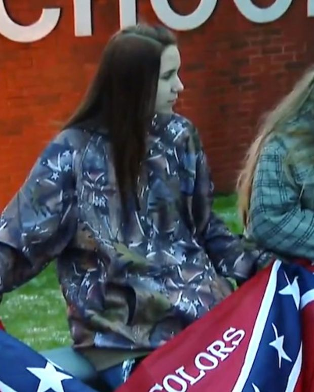 Students Protest Ban On Confederate Flag Clothing (Video) Promo Image