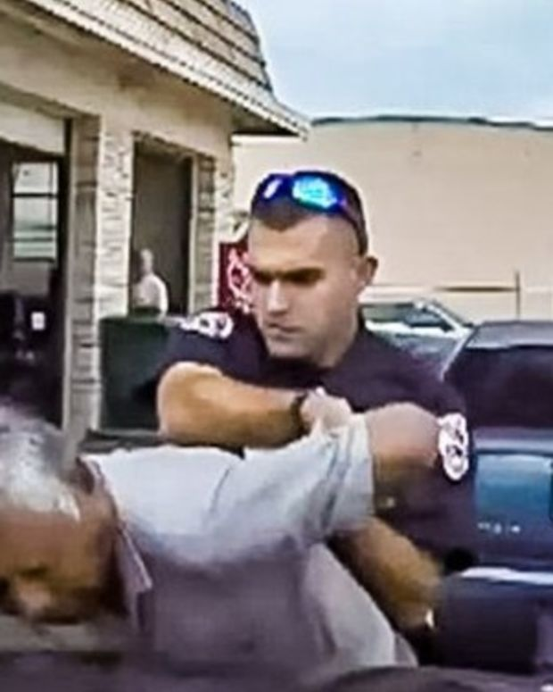 Police Officer's Violent Encounter With 76-Year-Old Man Caught On Camera (Video) Promo Image