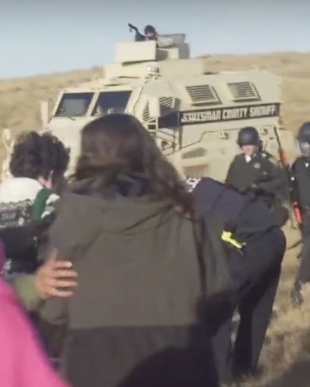 Militarized Police Beat, Pepper Spray Native Americans (Video) Promo Image