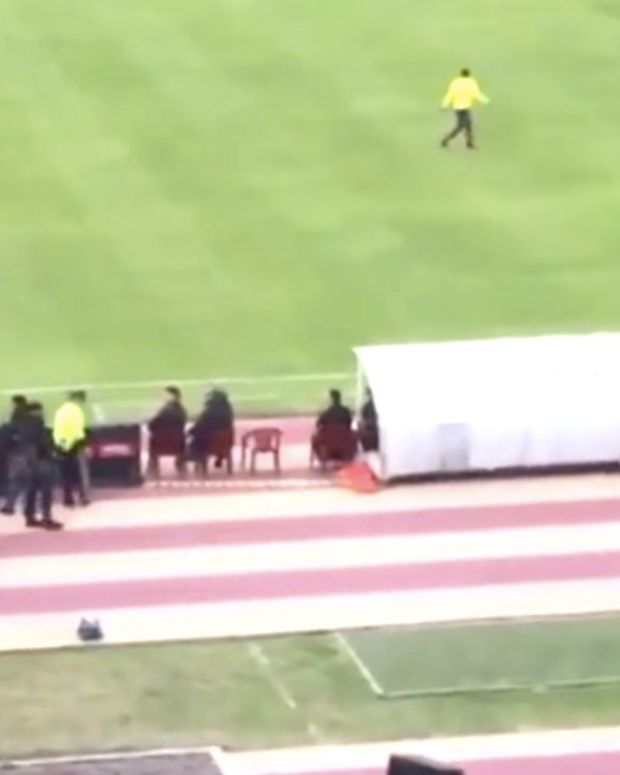 Police Chase Soccer Star At World Cup (Video) Promo Image