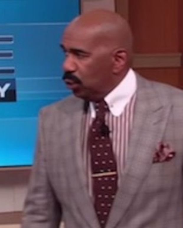 Steve Harvey Takes One Look At What Woman Was Wearing, Walks Off Stage (Video) Promo Image