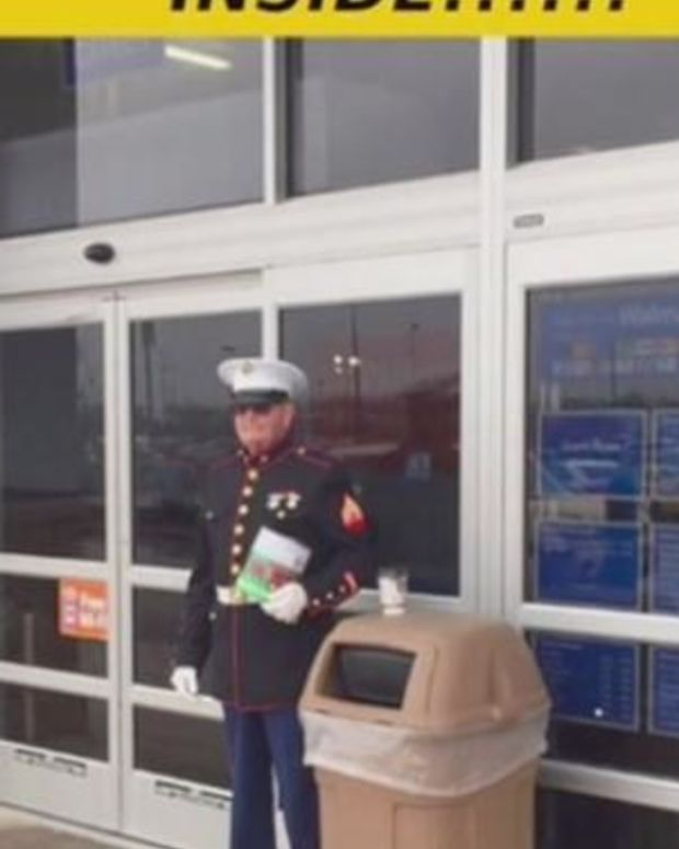 Shoppers Outraged To See How Walmart Treated A Marine (Photo) Promo Image