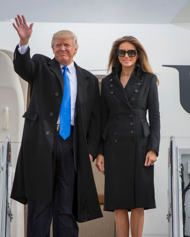 Why Melania Trump Wore A Red Dress At Air Force One (Photos) Promo Image